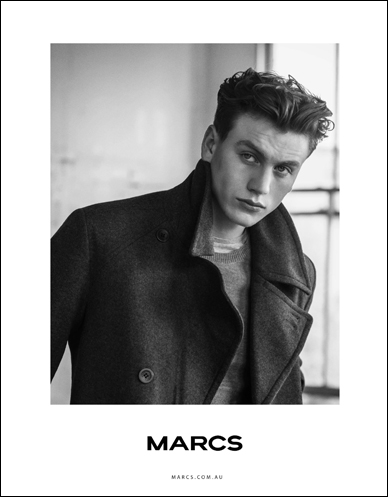 marcs male model wearing felt jacket